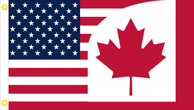 USA CANADA #2 FRIENDSHIP AMERICAN CANADIAN OFFICIAL FLAG 3X5