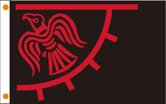 VIKING RAVEN BLACK & RED OFFICIAL FLAG 3X5