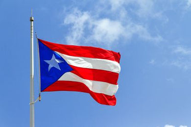 Puerto Rico Embroidered 2'X3' Flag Rough Tex® 150D