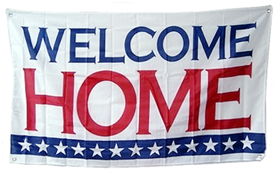USA WELCOME HOME 3X5 DOUBLE SIDED FLAG