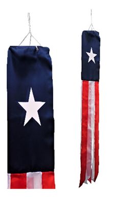 TEXAS PRINTED Flag Wind Sock