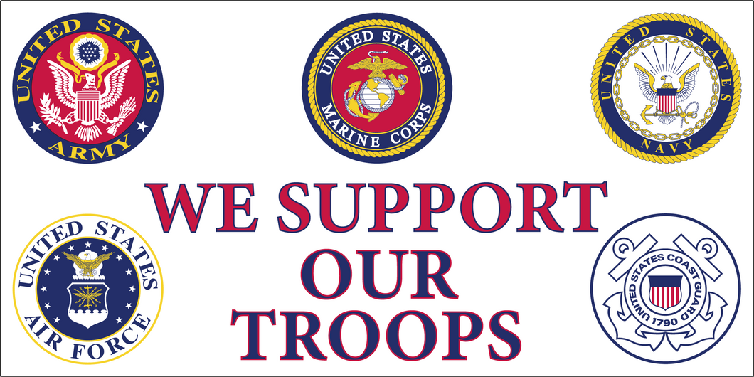 We Support Our Troops Bumper Sticker