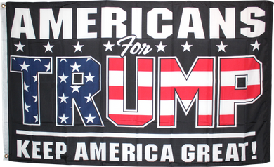 Americans For Trump KAG Keep America Great Black 3'X5' Flag Rough Tex® 68D Nylon