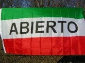 Abierto 3'x5' Polyester Flag