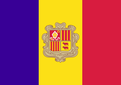 Andorra Flag 3x5ft Poly