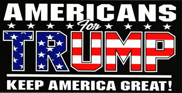 AMERICANS FOR TRUMP BUMPER STICKERS PACK OF 50