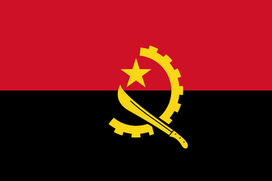 Angola Flag 3x5ft Poly