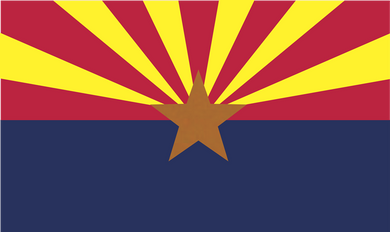 Arizona Flag 3x5ft 210D Nylon Double-Sided