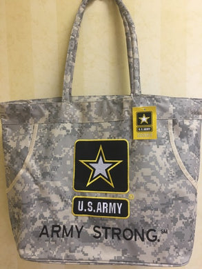 ARMY STRONG ACU VINTAGE CAMO BEACH BAG 600D NYLON WATERPROOF U.S. ARMY