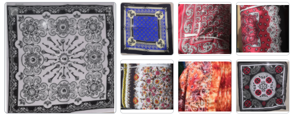 Assorted Paisley Pattern Bandanas Head Wrap In Various Designs 100% Cotton 22