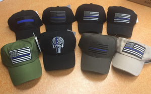 24 assorted POLICE CAPS