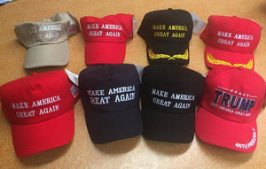 12 assorted TRUMP caps