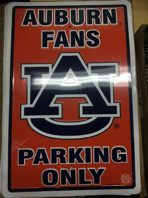 AUBURN UNIVERSITY FANS PARKING 12X18