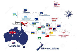 Oceana, Polynesia, Australia Region 3'x5' economical flags sold by the dozen wholesale