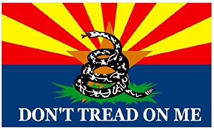 Arizona Gadsden White Flag 3x5ft 100D DON'T TREAD ON ME