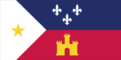 ACADIANA LOUISIANA BUMPER STICKERS PACK OF 50 WHOLESALE