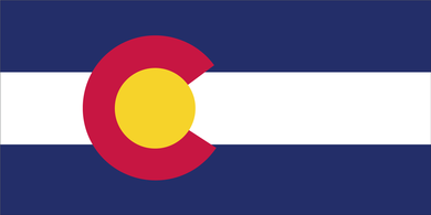 COLORADO FLAG BUMPER STICKERS PACK OF 50 WHOLESALE