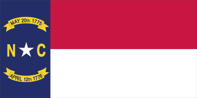 NORTH CAROLINA FLAG BUMPER STICKERS PACK OF 50 WHOLESALE
