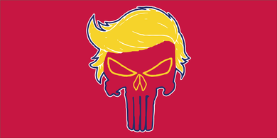 ANGRY TRUMP FLAG BUMPER STICKERS PACK OF 50 WHOLESALE