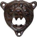 Cast Iron Bear Bottle Opener Wall Mount