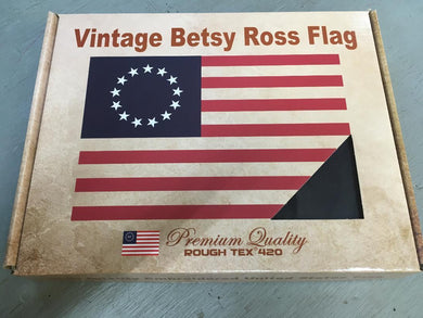 Betsy Ross Vintage 420D Embroidered 13 Star American 1776 Flag