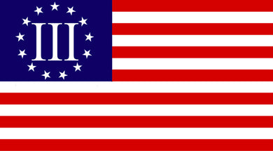 1776-13 Stars Colonial America Flag Betsy Ross Stick Flag 12x18in