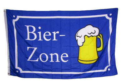 Bier Zone (Beer) Germany Flag 3x5ft 100D