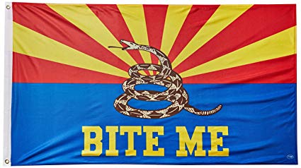 12 Arizona BITE ME 3x5ft 100D flags sold by the dozen