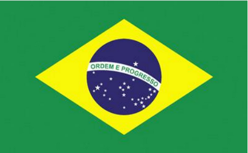 Brazil 3'X5' Flag Rough Tex® 68D Nylon