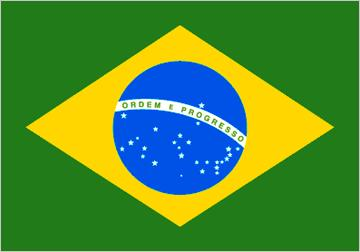 Brazil 3x5' 210d nylon double sided