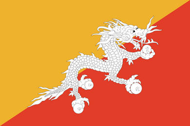 Bhutan Flag 3x5ft Poly