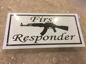 FIRST RESPONDER OFFICIAL BUMPER STICKER PACK OF 50 BUMPER STICKERS MADE IN USA WHOLESALE BY THE PACK OF 50!