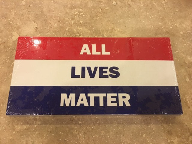 ALL LIVES MATTER RED WHITE BLUE PATRIOTIC OFFICIAL BUMPER STICKER PACK OF 50 BUMPER STICKERS MADE IN USA WHOLESALE BY THE PACK OF 50!