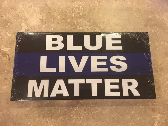 POLICE BLUE LIVES MATTER POLICE THIN LINE OFFICIAL BUMPER STICKER PACK OF 50 BUMPER STICKERS MADE IN USA WHOLESALE BY THE PACK OF 50!