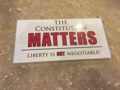 CONSTITUTION MATTERS LIBERTY OFFICIAL BUMPER STICKER PACK OF 50 BUMPER STICKERS MADE IN USA WHOLESALE BY THE PACK OF 50!