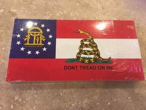 GEORGIA GADSDEN GA FLAG BUMPER STICKER PACK OF 50 BUMPER STICKERS MADE IN USA WHOLESALE BY THE PACK OF 50!
