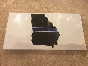 GEORGIA BLUE LINE MEMORIAL POLICE OFFICIAL BUMPER STICKER PACK OF 50 BUMPER STICKERS MADE IN USA WHOLESALE BY THE PACK OF 50!