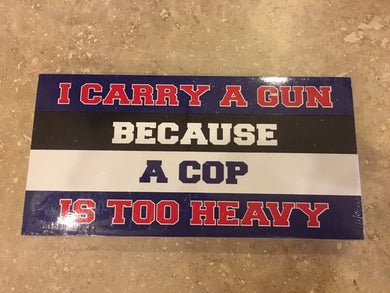 CARRY A GUN POLICE OFFICIAL BUMPER STICKER PACK OF 50 BUMPER STICKERS MADE IN USA WHOLESALE BY THE PACK OF 50!
