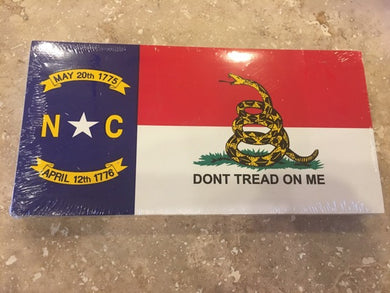 NORTH CAROLINA GADSDEN NC FLAG BUMPER STICKER PACK OF 50 BUMPER STICKERS MADE IN USA WHOLESALE BY THE PACK OF 50!