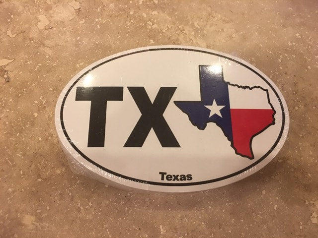 TEXAS OVAL STATE TX FLAG OFFICIAL BUMPER STICKER PACK OF 50 BUMPER STICKERS MADE IN USA WHOLESALE BY THE PACK OF 50!