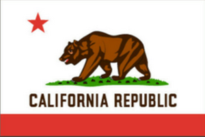 California Republic 3'X5' Flag Rough Tex® 68D Nylon
