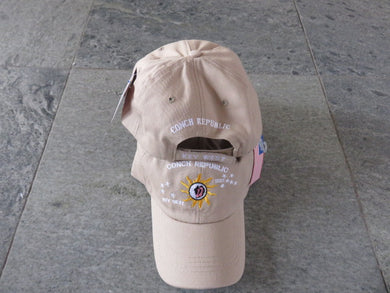 100% COTTON CAP CONCH REPUBLIC KEY WEST KHAKI WASHED