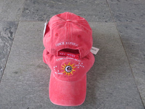 100% COTTON CAP CONCH REPUBLIC KEY WEST RED WASHED