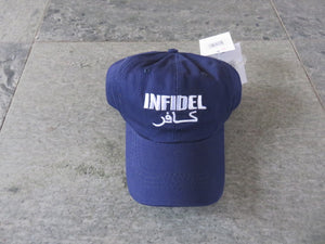 INFIDEL HAT BLUE NAVY 100% COTTON CAP WAR ON TERROR