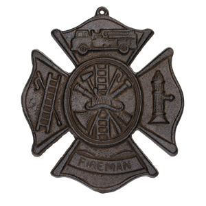 Cast Iron Maltese Cross Fire Fighter