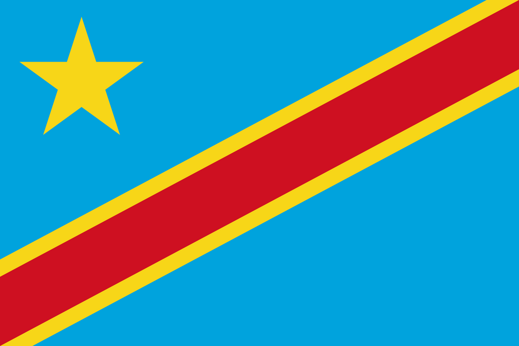 Congo (Democratic Republic) Flag 3x5ft Poly