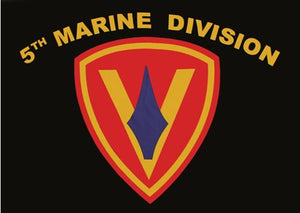 5th Marine Division 3'X5' Flag Rough Tex® Super Polyester