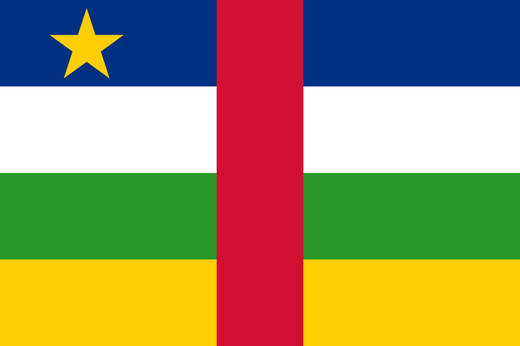 Central African Republic Flag 3x5ft Poly