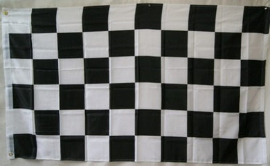 Black and White Checkered Flag 3x5ft 210D Nylon