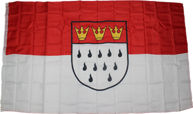 Cologne Germany Flag 3x5ft 100D